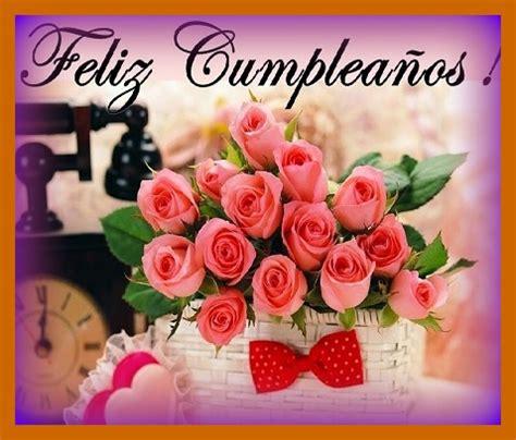 imagenes para felicitar cumpleaños en facebook felicitaciones de cumplea 241 os con ramos de flores
