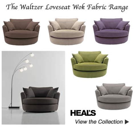 Retro Swivel Armchair Swivel Love Seat Cuddle Chairs In Green Brown Charcoal