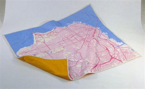 san francisco map blanket decorating ideas for travel addicts stitched map