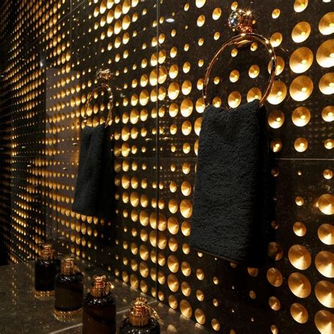Wall Mural luxury powder room design black marble lithos design