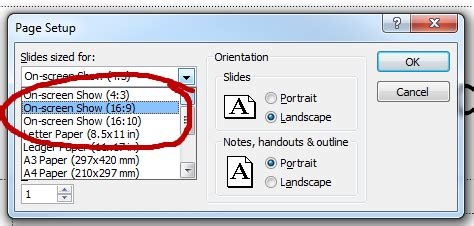 powerpoint widescreen tutorial tutorial how to display 4 3 powerpoint presentations in