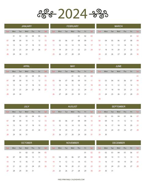 month color calendar    printable calendars