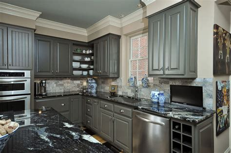 dark grey cabinets kitchen the traditional black kitchen on pinterest black kitchen