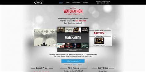 xfinity watchathon sweepstakes xfinitysweepstakes com - Watchathon Sweepstakes