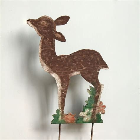 vintage wooden reindeer lawn ornament holiday yard