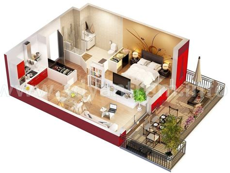 floorplan 3d studio apartment floor plans