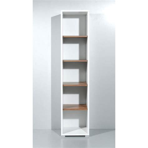 Narrow Shelf Unit by Update White And Walnut 5 Tier Shelving Unit 1640 25 8198 F