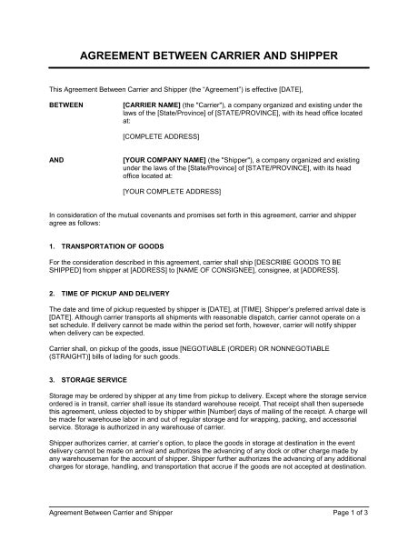 Sle Agreement Letter Between Two Companies Agreement Between Two Template