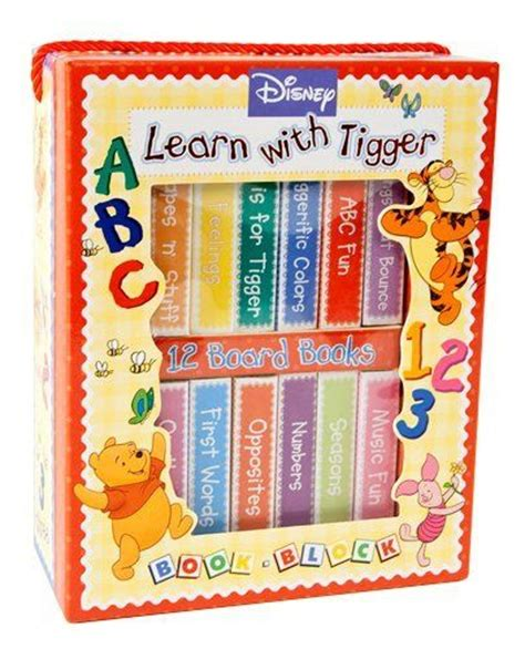 disney learn with tigger book block winnie the pooh set of 12 board books baby needs more toys