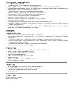 Financial Aid Specialist Sle Resume by Pizzuti Resume Detail Of Experience