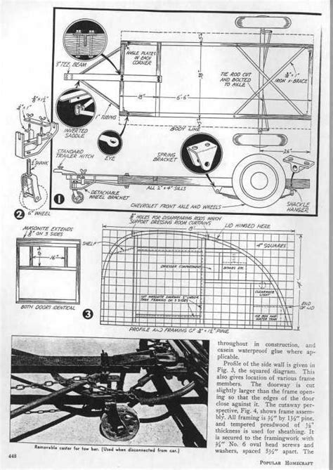 teardrop cer floor plans teardrop trailer plans 1939