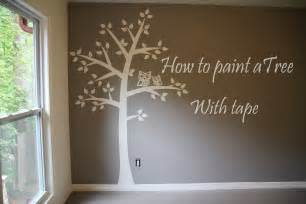 Picture Murals On Walls how to paint tree on wall 4 baby room easy tape amp paper