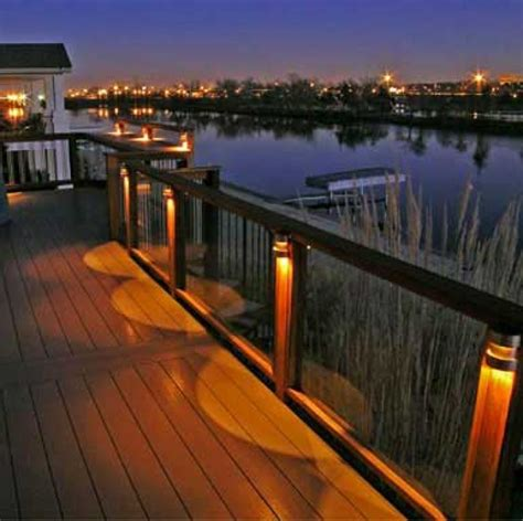 rail deck lighting deck railing lights railing stairs and kitchen design