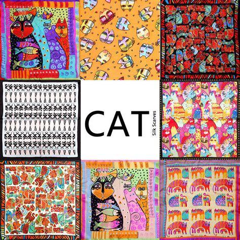 Mini Scraf Square Bandana Dll 100 silk scarf scarf cat scarf 2016 foulard