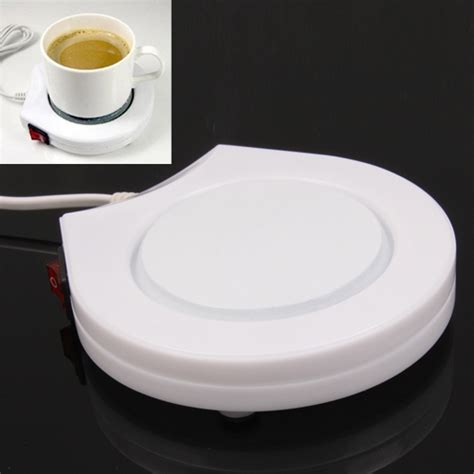 Electronic Coffee Cup Warmer Plate Beverage Heater Warm keeper (US Plug) (White)   Alex NLD