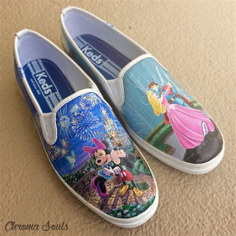 disney finds painted disney shoes
