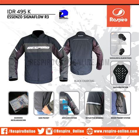 Jaket Motor Respiro Journey Charcoal Black Original jaket respiro essenzo signaflow respiro