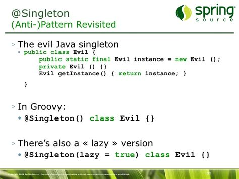 singleton design pattern in javarevisited introduction to groovy and what s new in groovy 1 6