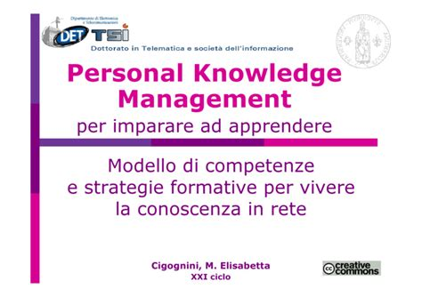 knowledge management dissertation pkm personal knowledge management per imparare ad