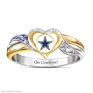 dallas cowboys team pride light dallas cowboys womens 18k gold plated nfl pride ring