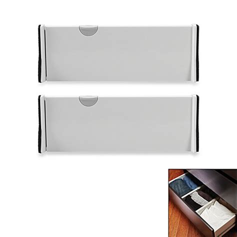 bed bath and beyond dresser drawer organizer buy oxo expandable drawer organizer set of 2 from bed