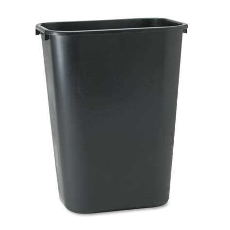 Black Rubbermaid Soft Molded Plastic Office Home Kitchen Trash Cans For Kitchen