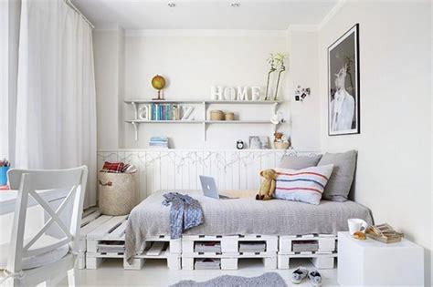 children s schlafzimmer dekorieren ideen diy bett aus wei 223 en paletten als coole kinderzimmer