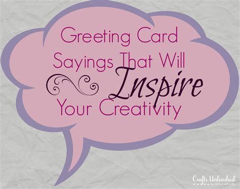 Gift Card Sayings - greeting card sayings to inspire your card making ideas