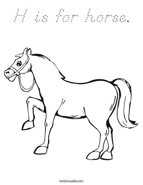 h is for horse coloring page d nealian twisty noodle