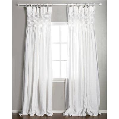 white linen curtain panels pom pom at home smocked white curtain panel