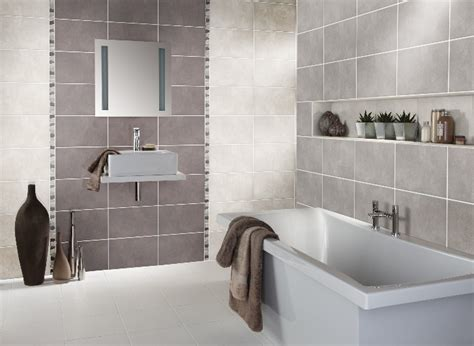 using a feature wall of tiles in a different colour is a great way to add depth to your bathroom