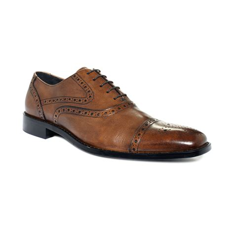 johnston and murphy shoes johnston murphy albright cap toe lace up shoes in brown