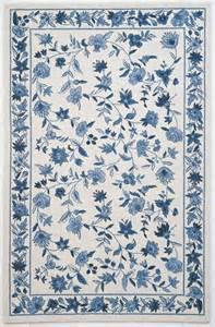 Light blue oriental rug colonial ivory blue floral