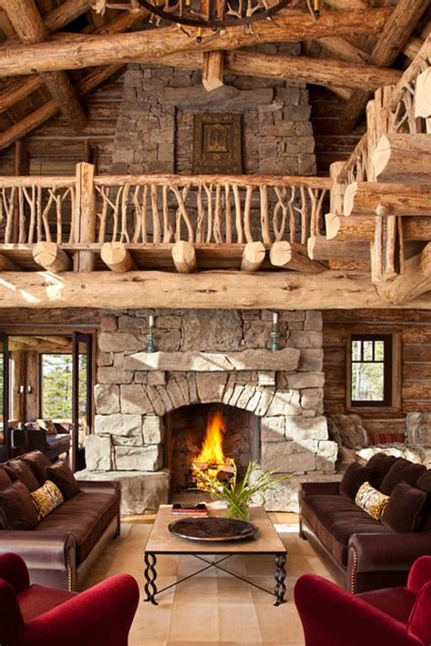Log Cabin Living Rooms by 47 Extremely Cozy And Rustic Cabin Style Living Rooms