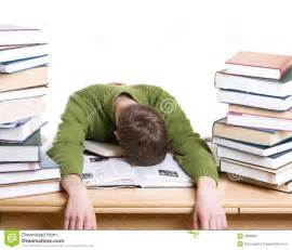 book sleeping the sleeping student with books isolated stock photo