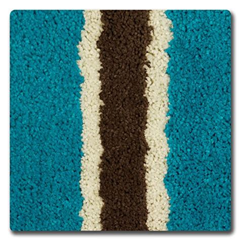 Teal Bath Rugs Bathtopia Ace Microfiber Stripe 16 X 24 In Bath Rug Teal New