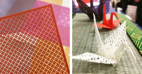 japanese pattern cutting laser cut origami featuring traditional japanese patterns