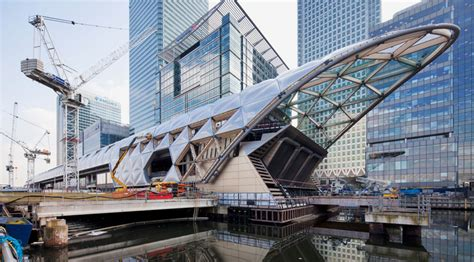 designboom norman foster latticed roof complete at foster partners crossrail station