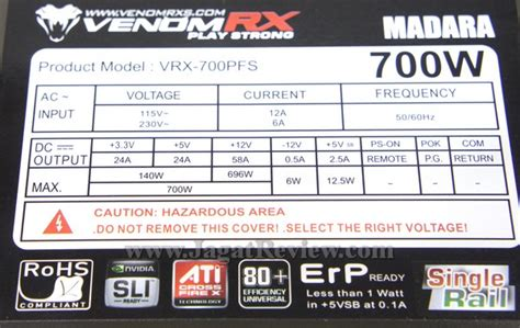 Power Supply Venom Rx Madara 700w on psu venomrx madara 650 watt dan 700 watt
