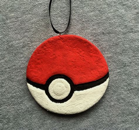 Handcrafted Pokeballs - 1000 ideas about salt dough ornaments on
