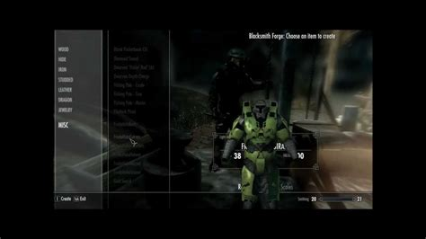 halo armor mod skyrim skyrim halo spartan mod youtube