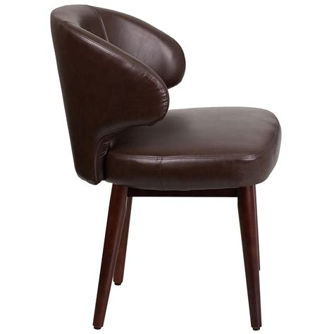 ergonomic home comfort back series brown leather reception