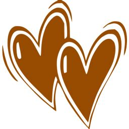brown heart  icon  brown heart icons