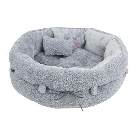 lit pour petit chien couffin pour chien luxe gris lits chiens oh pacha