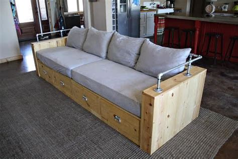 Diy Sofa Plans by Modern Wood Storage Sofa White