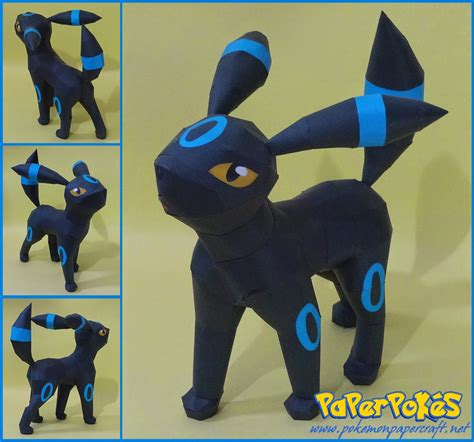 Papercraft Umbreon - paperpok 233 s pok 233 mon papercraft umbreon howl