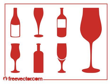 wine silhouette wine silhouettes set