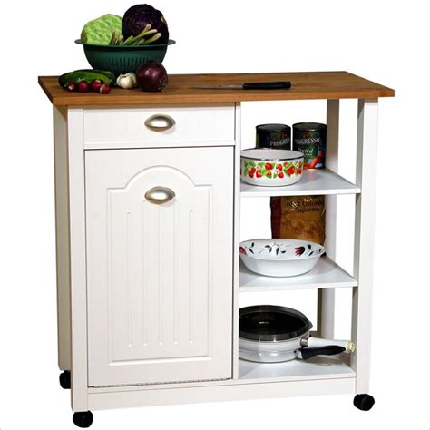 Mobile Kitchen Island Units by Venture Horizon Double Butcher Block Mobile Island Bin