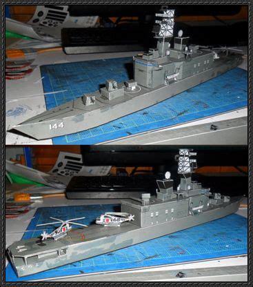 Papercraft Destroyer - jmsdf shirane class destroyer ddh 144 kurama free ship
