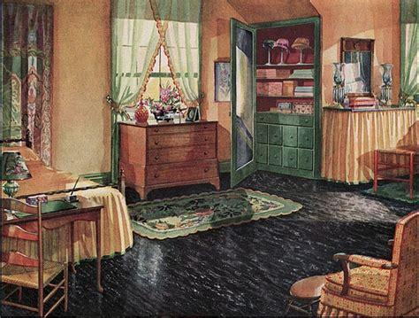 1930s home decorating ideas myideasbedroom com 1920s bedroom with black linoleum floor design i love